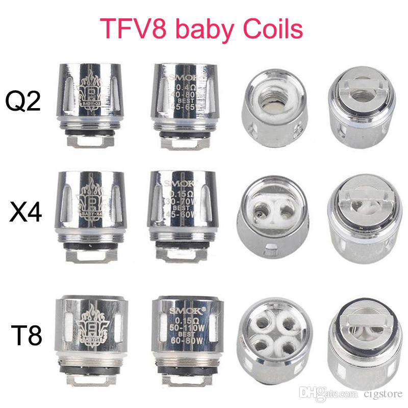how to change v8 baby coil in smok qbox